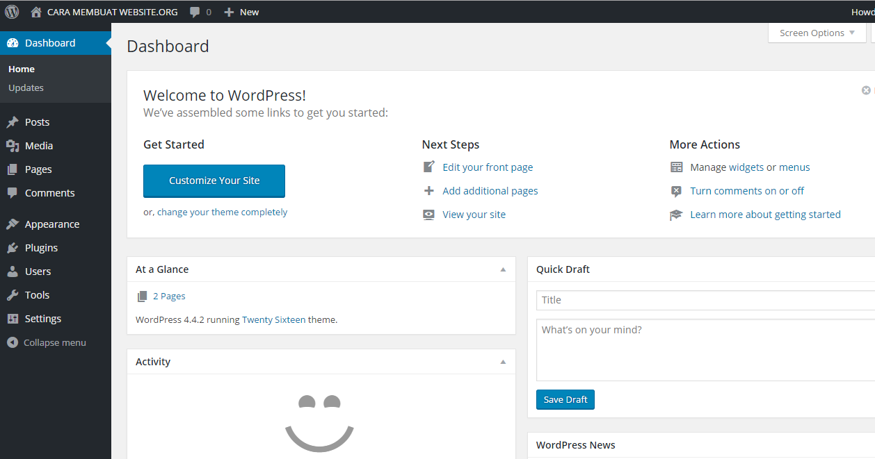Gambar Cara Membuat Blog dengan WordPress