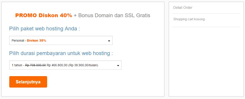 Jangka waktu kontrak hosting