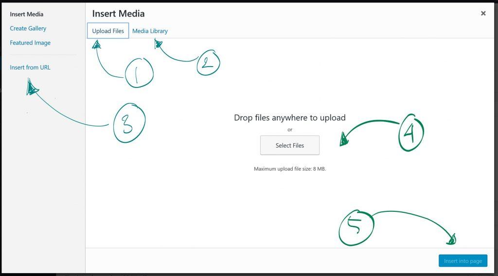 add media wordpress