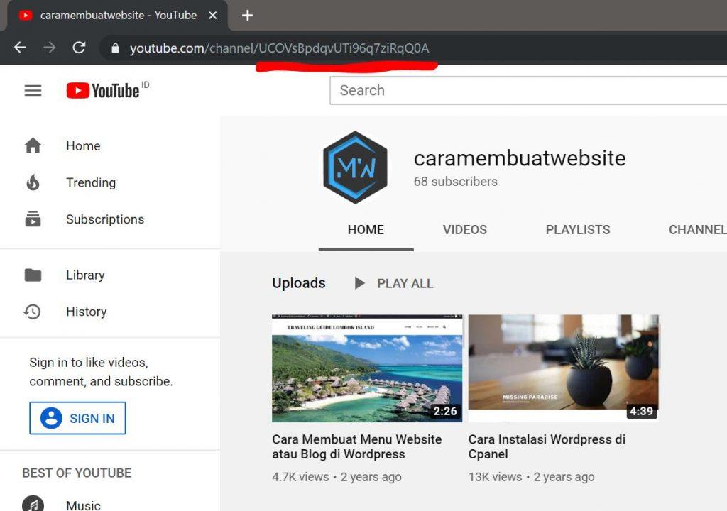pasang tombol subscribe di website