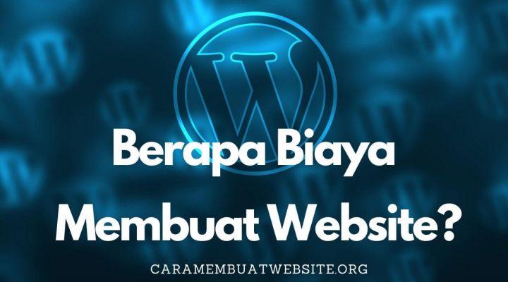 biaya membuat website wordpress