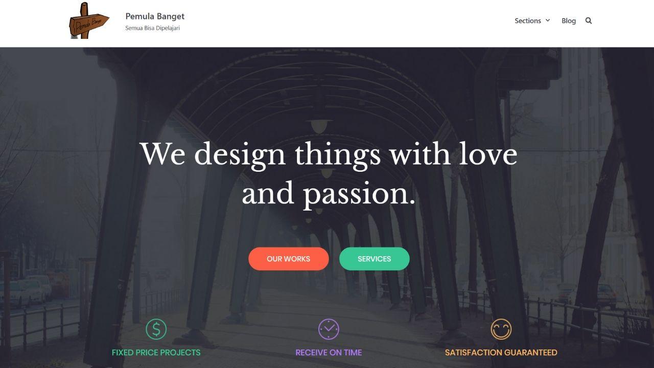halaman depan website atas